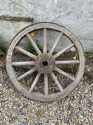 Wooden Antique Spoked Carriage / Wagon Wheel