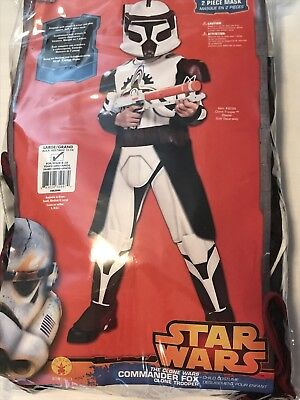 Star Wars Clone Wars Commander Fox Trooper Boys  Costume L 12-14  NO - Commander Fox Costume