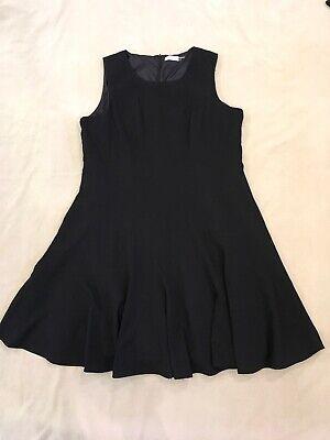 Calvin Klein Dress 20W Black Gored Swingy EUC Fully Lined