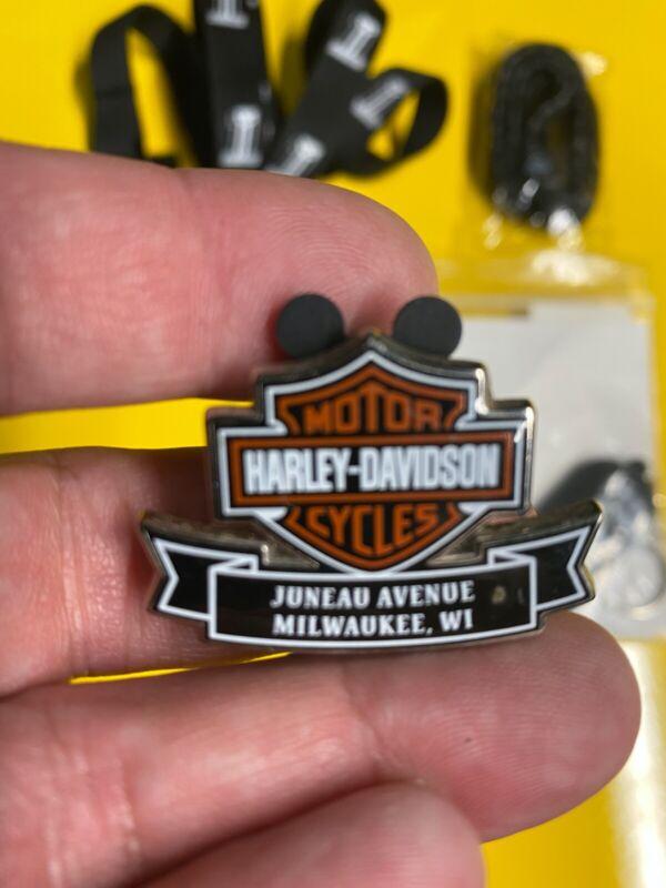 HARLEY DAVIDSON RARE Juneau HARLEY  PIN and goodies