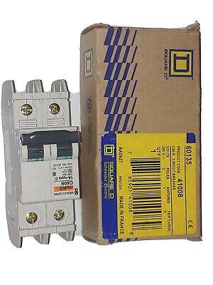 Merlin Gerin Square D C60n 1amp 2p 240 - 415 Volt Iec Multi9 Circuit Breaker New