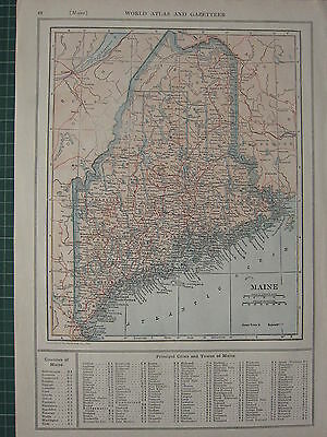 1926 MAP ~ MAINE STATE PRINCIPAL CITIES & TOWN FRANKLIN GREENVILLE GRAY EXETER