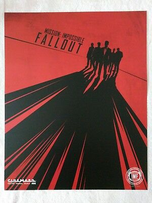 "MISSION IMPOSSIBLE: FALLOUT - Original Cinemark Promo Poster Giveaway - 16""x 20"""