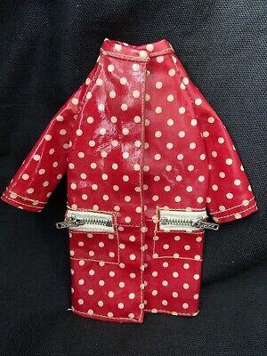 Vintage Barbie Mattel FRANCIE Outfit #1255 POLKA DOTS N RAINDROPS Red Coat