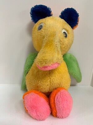 Vintage 1980 Merry Monster Plush Toy Stuffed Animal Colorful Goggly Eyes](Monster Stuffed Animal)