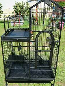 LARGE INDOOR / OUTDOOR  AVIARY BIRD CAGE with castors Holland Park Brisbane South West Preview