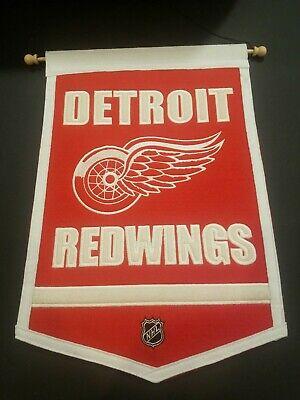 Winning Streak Detroit Red Wings 18 x 12 wool Felt Pennant Banner Detroit Red Wings Wool