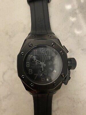 Swiss Legend 10541-BLK Men's Trimix Diver Chronograph Watch, Black