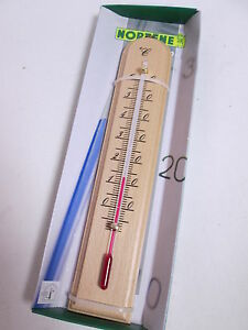 Wooden garden outdoor thermometer 10 to 60 degrees 2r103 for Thermometres exterieurs