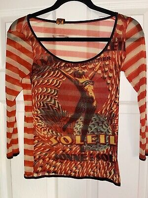 Rare Vintage Jean Paul Gaultier Soleil Mesh Top M