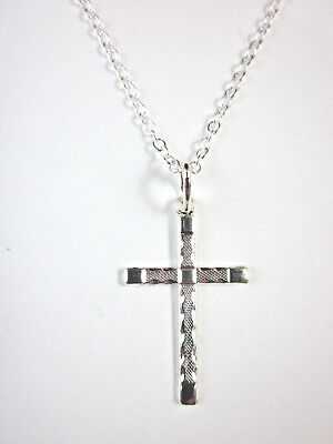 1 1//8 inch tall Sterling Silver Celtic Cross Necklace Plain Red CZ