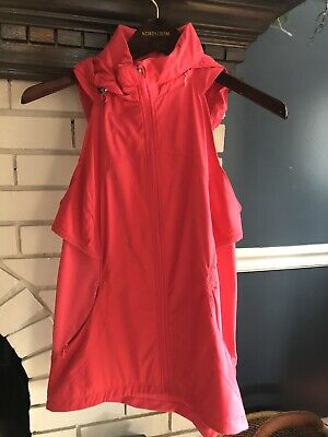 Womens LULULEMON Hooded Vest Size 6 Hot Pink Lightweight Running