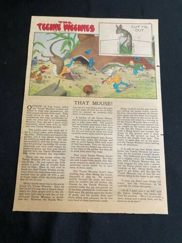 #36F TEENIE WEENIES by William Donahey Sunday Tabloid Full Page May 2, 1943