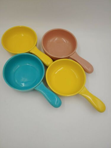 Lot of 4 Vintage Franciscan Ware El Patio China Lug Handle Soup Chili Bowls