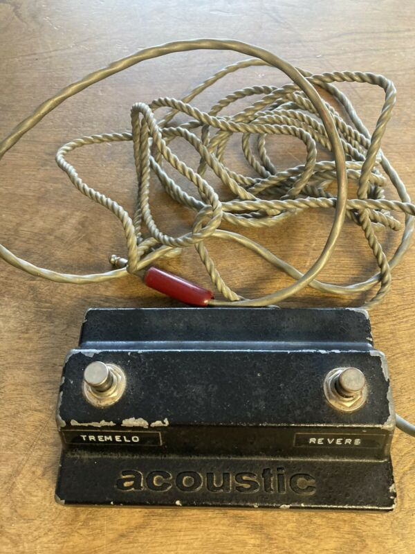 RARE 1960's Acoustic Guitar Amp Foot Pedal