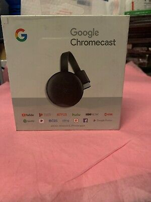 Google Chromecast 3rd Gen Digital HDMI Media Streamer Black GA00439-US