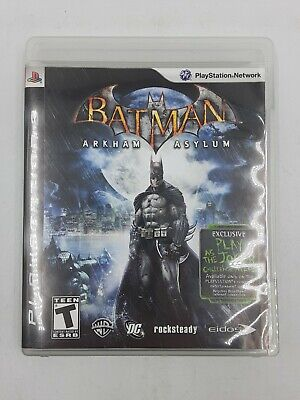 Used, BATMAN ARKHAM ASYLUM PS3 Playstation 3 Video Game with Booklet USED PREOWNED for sale  Shipping to Nigeria