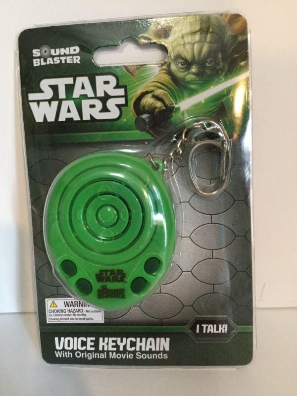 BRAND NEW Star Wars Sound Blaster Green Voice Keychain with Batteries