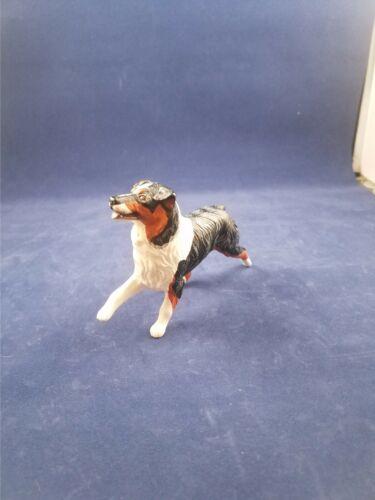 BREYER COMPANION ANIMAL DOG Australian Shepard Black Crop tail  4 inches K9 farm