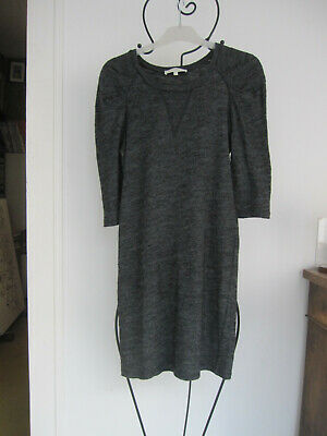 Sandro,dress, kleid, robe  t3  (38/40), maille gris chiné
