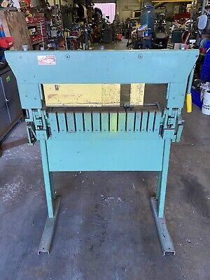 Smiths Finger Brake Sheet Metal Bender Box Pan Brake Metal Fabrication