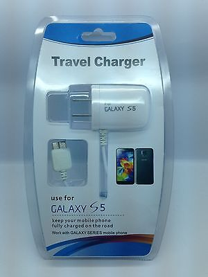 LOT OF 2 NEW HOME CHARGER FOR SAMSUNG GALAXY S5 GALAXY NOTE 3 USB 3.0 MICRO