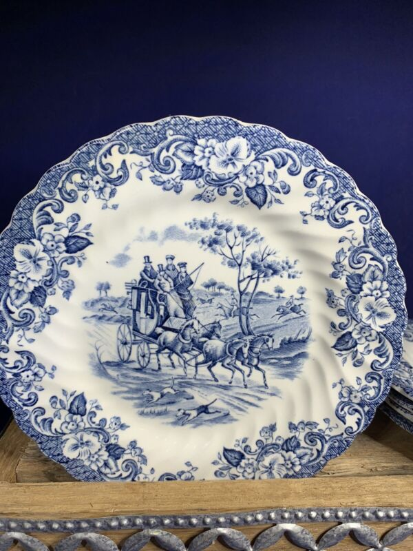 JOHNSON BROS COACHING SCENES BREAD  PLATES HUNTING COUNTRY Set of 5