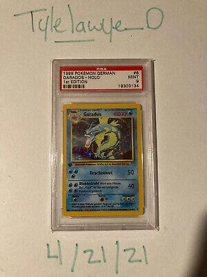 Pokemon Base Set 1st Edition GERMAN Gyarados Garados 6/102 PSA 9