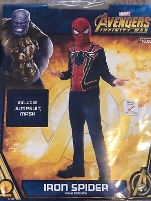 NEW Marvel Spiderman Avengers Halloween Costume Youth Child Size Small S 4-6