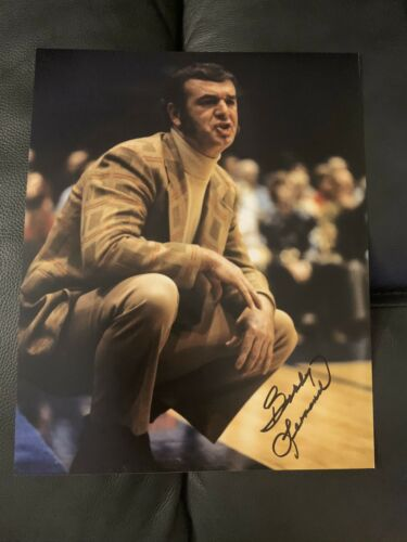 "Bobby ""Slick"" Leonard Indiana Pacers Hoosiers Signed 8 X 10"