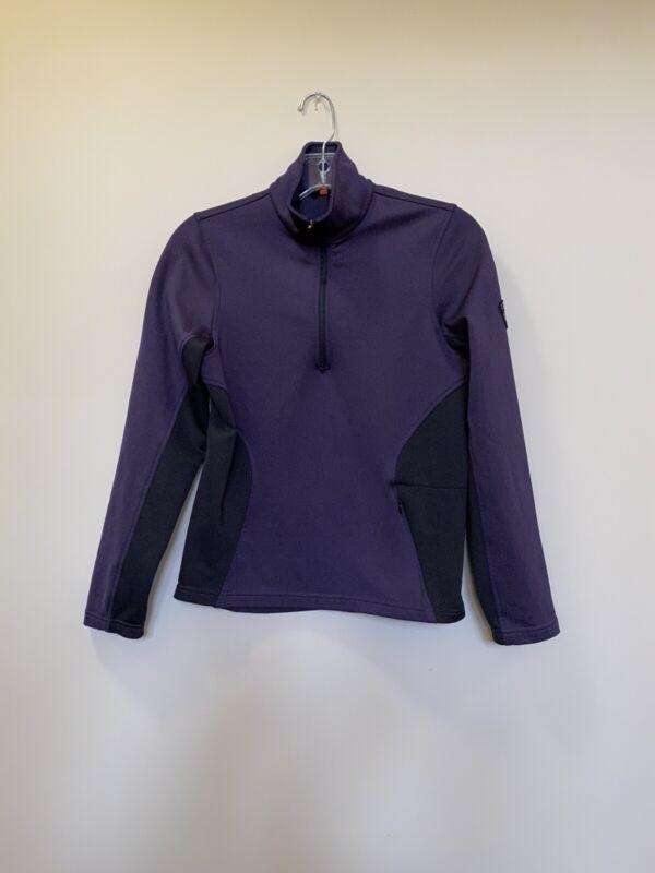 KERRITS Youth Equestrian 1/4 Zip Purple Black Pullover Jacket Size XL