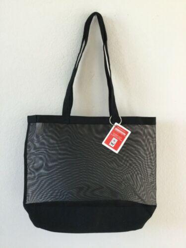 Vintage NWT Large Transparent Black Tote Bag Shoulder Handbag Container Store