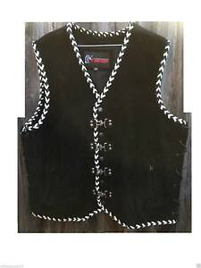 Motorcycle suede Clip Vest Black&White Double Bird hand braided Clayton Monash Area Preview