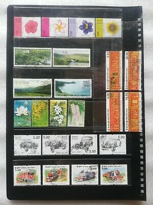 Ceylon Sri Lankan 24 Different Used Stamps With Rares and Complete Sets