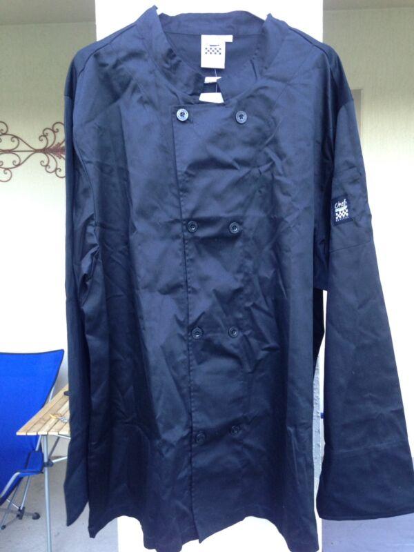 NWT CHEF REVIVALSan Jamar J061 Black Long Sleeve Cool Crew Jacket 3XL XXXL New