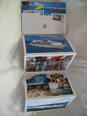 Booklet Of 4 Royal Caribbean Cruises  Postcards Vision Class Ships