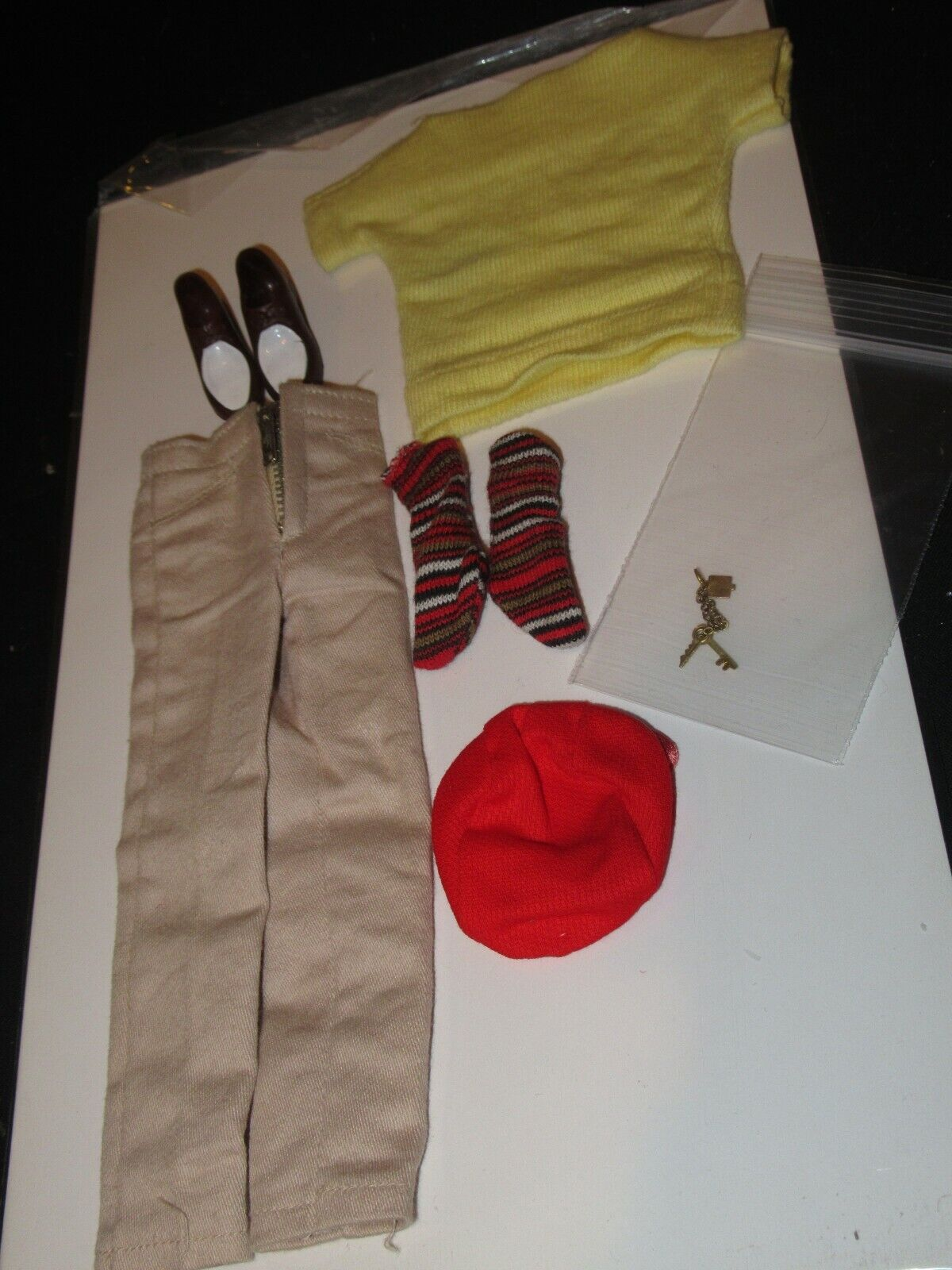 Vintage Barbie Ken Fashion Casual 782 Outfit With KEYS Complete MINTY mb12 - $74.99