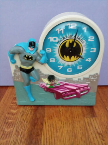 1974 Vintage Batman & Robin Janex Talking Alarm Clock  Complete and Working