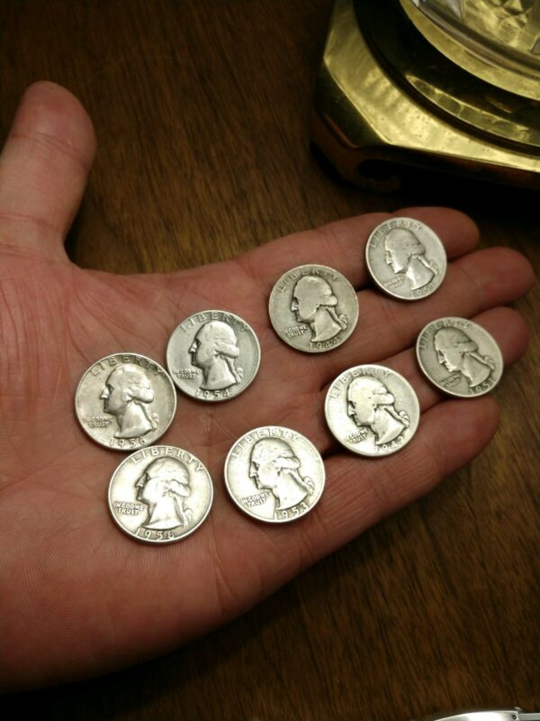 FULL DATES 4 SILVER COINS $1 Face Value 90% Silver Washington Quarters