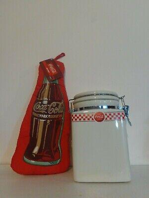Coca Cola Canister NEW and Coca Cola Oven Mitt, COCA COLA Products