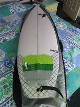 """6'1"""" x 20 1/2"""" x 2 3/4"""" Perko surfboard in as new condition Southport Gold Coast City Preview"""
