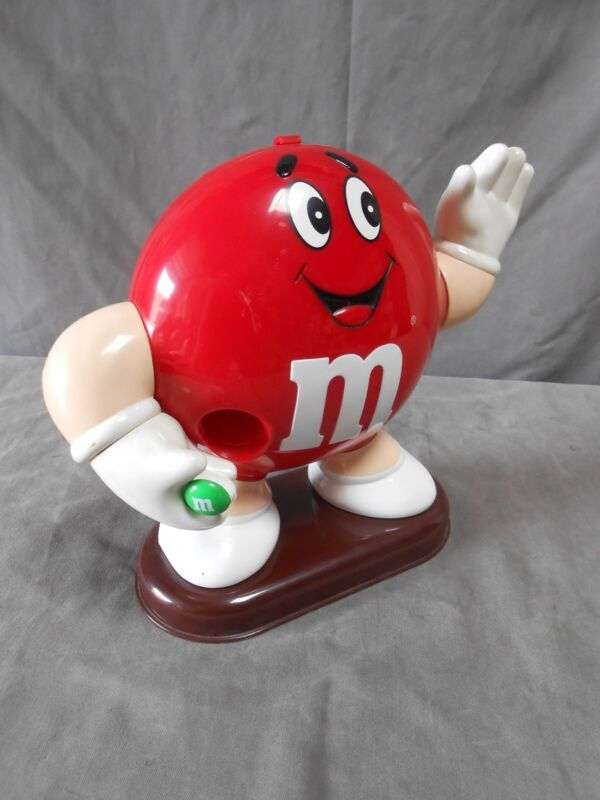 M & M Mars Candy Plastic Figure Figural Dispenser