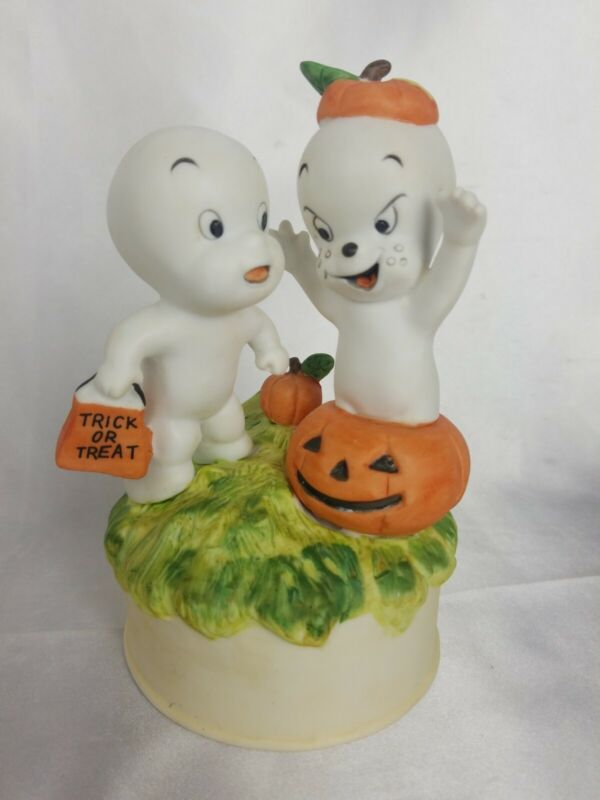 Rare Vtg 1986 Casper The Friendly Ghost Wind Up Music Player Harvey Publications
