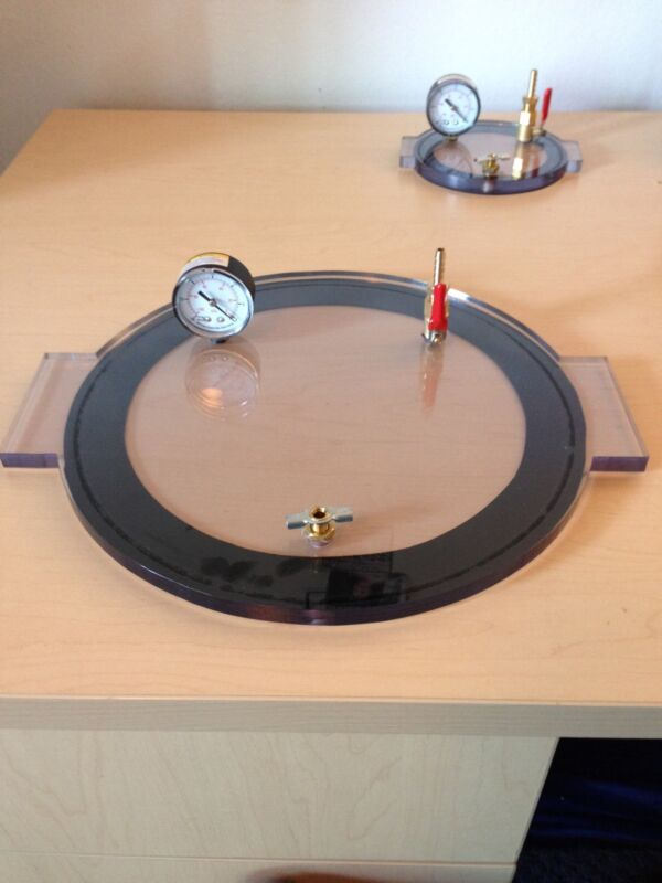 "Vacuum Chamber Lid 11"" Diameter Polycarbonate by (bienzumbado)degassing silicone"