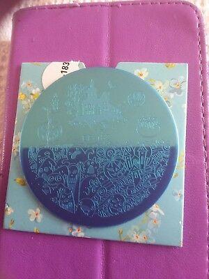 Nail Art Stamping Plate HALLOWEEN Motive ()