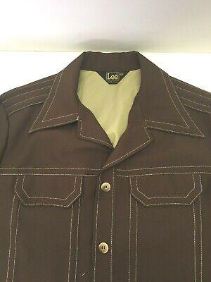 vintage LEE dark Brown Mens L Shirt Jacket Country Western disco USA EUC Mens Disco Jacket