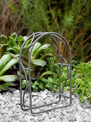 Miniature Dollhouse FAIRY GARDEN Furniture ~ TINY Micro Mini Rustic Metal Arch ()