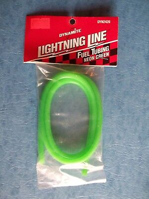 GENUINE DYNAMITE 2420 LIGHTNING LINE FUEL TUBING NEON GREEN DYN2420 NIP