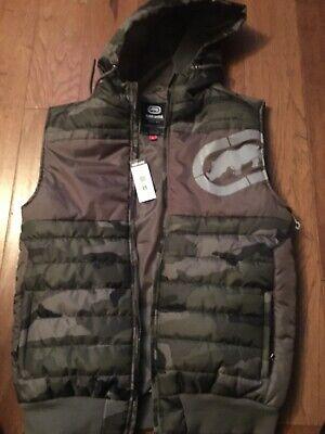 ecko unltd Hooded Bubble Vest Size Mens Medium Retail $68.00 Mens Bubble Vest