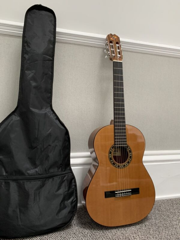 Classical Malaga Guitar With Cover And Beginners Guide